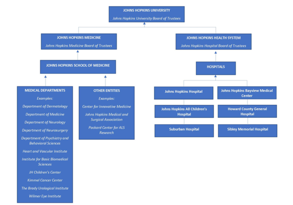 Image of the volunteer structure at Johns Hopkins Medicine
